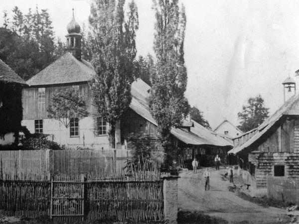 Die Voitenberghütte im Jahr 1880 (Historisches-Privat-Bildarchiv: Hansjörg Schneider, Waldmünchen)
