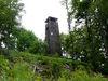 Der Klammerfels-Turm bei Herzogau am Glasschleiferweg und Goldsteig bei Waldmünchen