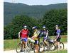 Mountainbiker mit Blick zum Hohenbogen
