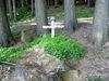 Kreuz mit Stahlhelm am Napoleonweg in Waldmünchen