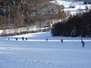 Abfahrt ins Tal beim Skilift Unterhütte bei Waldmünchen im Naturpark Oberer Bayerischer Wald