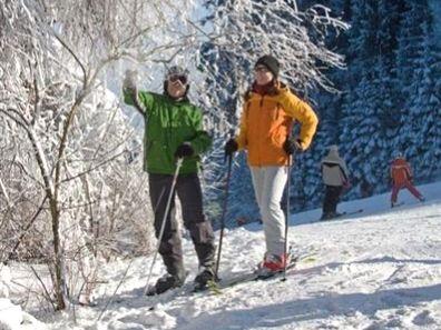 Wintertraum für Skifahrer beim Skizentrum Voithenberg