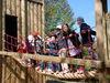 Kinderspaß beim Erlebnisspielplatz Räuberhöhle am Perlsee bei Waldmünchen