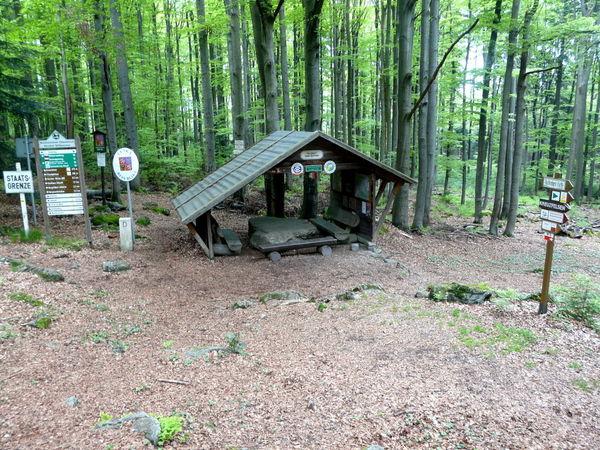 Blick auf den Grenzübergang Dreiwappen nach Böhmen bei Waldmünchen