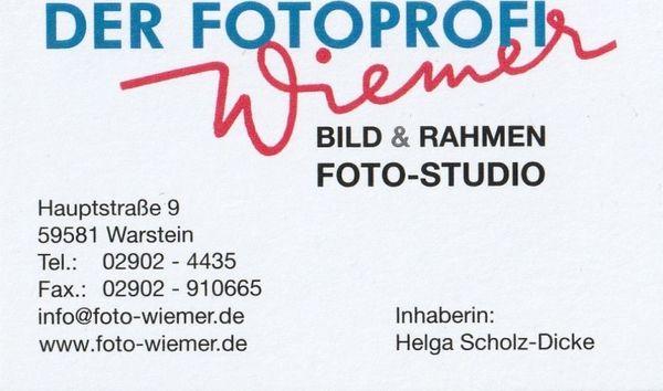 Visitenkarte Foto Wiemer