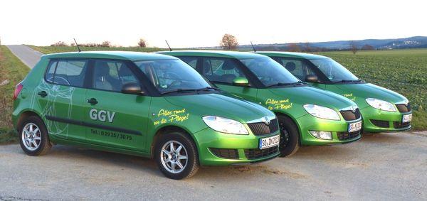 Autos des GGV Pflegedienst