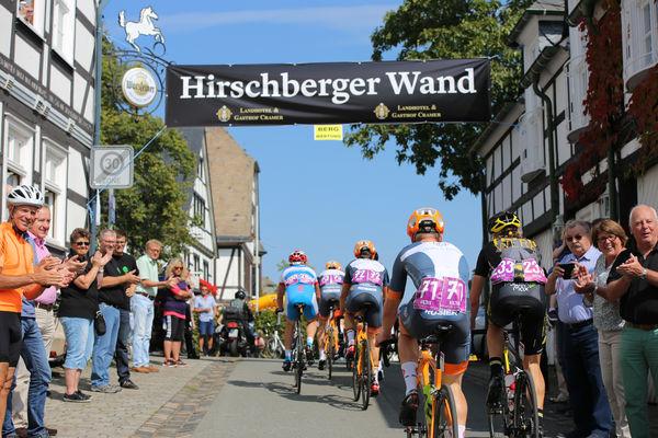 Radrennen an der Hirschberger Wand