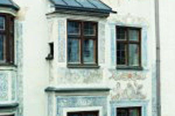 Ganserhaus in Wasserburg in Nahaufnahme.