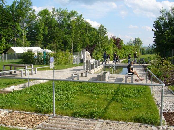Tastgarten bei der Kneipp-Anlage.