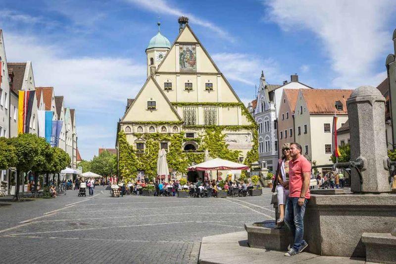 Altes Rathaus in Weiden in der Oberpfalz.