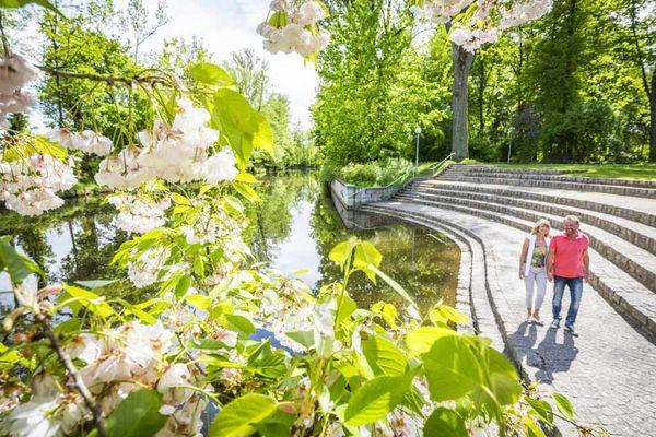 Max-Reger-Park in Weiden in der Oberpfalz.