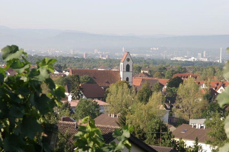 Blick auf Weil am Rhein