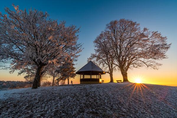 Aussichtspunkt Gupfen im Winter
