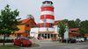 Der Leuchtturm Satama am Saunapark