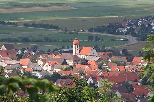 Blick auf Westhausen