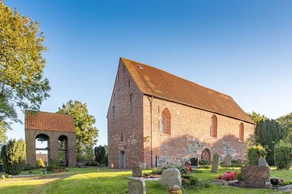 Kirche Wiefels im Wangerland an der Nordsee