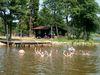 Badespaß für Kinder beim Naturbadeweiher in Wiesenfelden