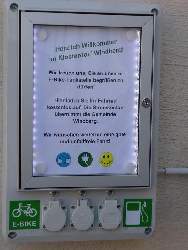 Kostenlos eBike laden in der Gemeinde Windberg