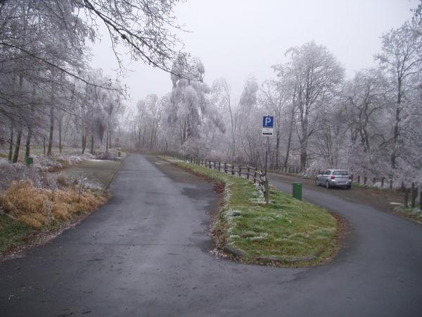 Blick auf den Wanderparkplatz