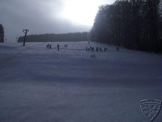 Skilift Dickeloch im Nebel bei Winterlingen