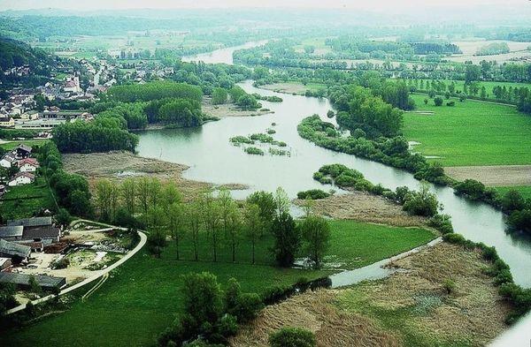 Blick auf das NSG Donaualtwasser Winzerer Letten im Donautal