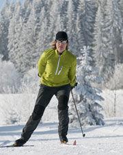 Langläufer auf der Russberg-Loipe