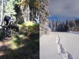 Mountainbike-Touren und Schneeschuhwandern