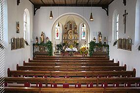 Innenraum der Marienkirche in Zandt