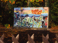 Im Park des Kunstmuseums Villa Haiss in Zell a. H.: ein Stück Berliner Mauer