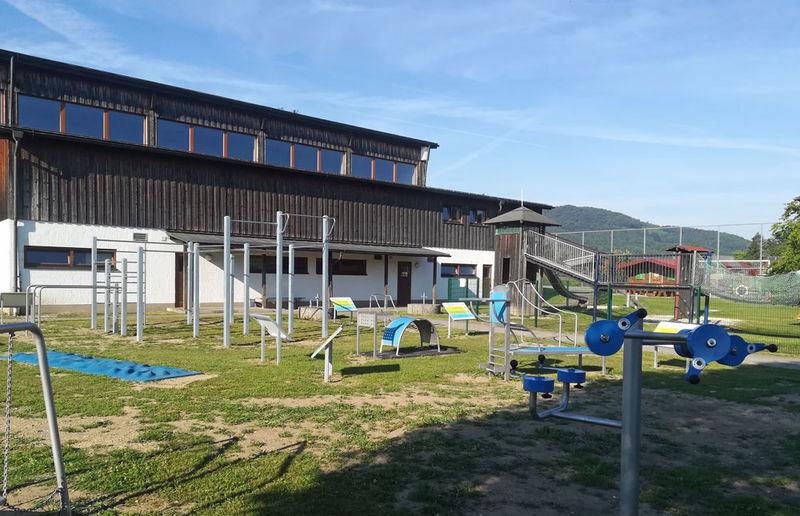 Der Bewegungsparcours in der Gemeinde Zenting