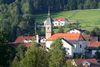 Blick auf die Pfarrkirche Zenting in der Region Sonnenwald im Bayerischen Wald
