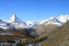 From the top of the former lateral moraine of the Findel Glacier, the view of Zermatt's 4,000-metre peaks is breathtaking.
