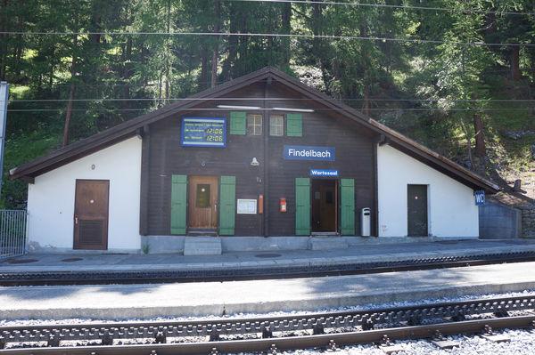 Die Haltestelle Findelbach der Gornergrat Bahn ist die erste Station nach Zermatt.