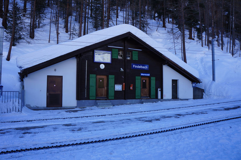 Findelbach station on the Gornergrat Bahn cog railway is the starting point for walks all year round.