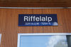 The Riffelalp station is located between Findelbach and Riffelberg.