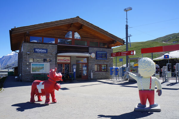 The Riffelberg station is located between Riffelalp and Rotenboden.