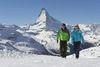 Randonnée hivernale à Zermatt, sous le soleil scintillant: Sunnegga s'avère un excellent point de départ d'excursions.