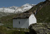 Zermatt's mountains: the prayer house and view towards the Trift Glacier.