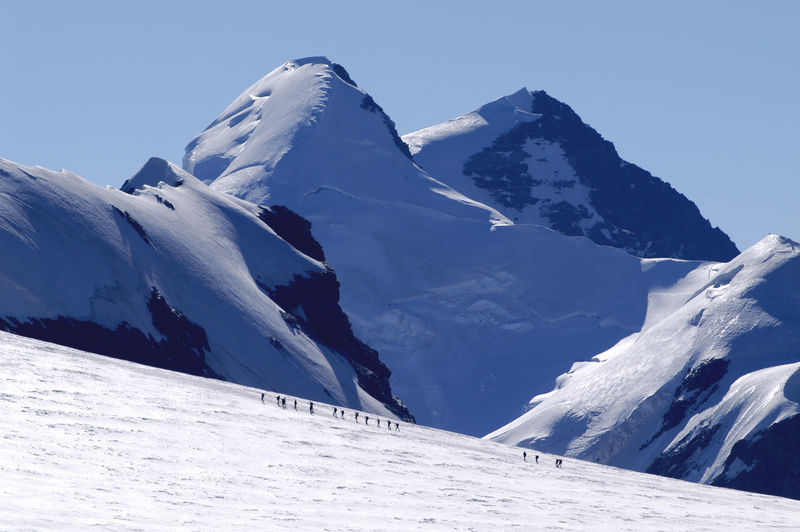 The twin 4,000-metre peaks Castor (left) and Pollux.