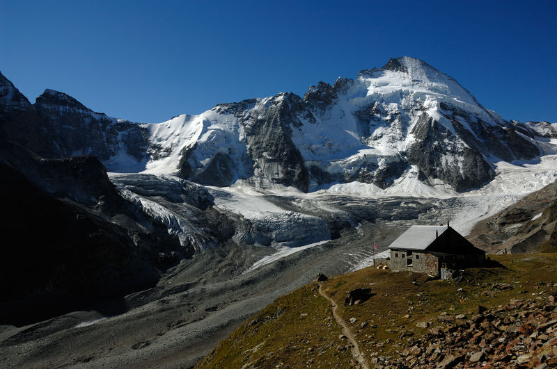 The Dent d'Hérens seen from the Schönbiel hut.