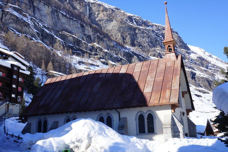 English Church, Zermatt: in der Sommer- und Wintersaison sorgen Reverends für das selische Wohl der englischsprachigen Gäste.