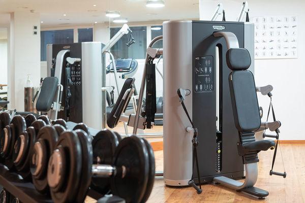 Den Besuchern steht ein moderner Fitnessbereich zur Verfügung.