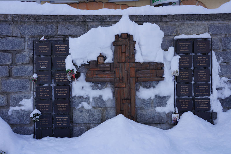 A place of contemplation: the mountaineers' memorial commemorates climbers and other guests who had a strong connection to Zermatt.