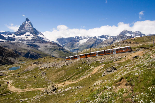 The Gornergrat Bahn was the first fully electrified cogwheel railway in Switzerland.