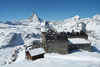 The view from the observation platform above the 3100 Kulmhotel Gornergrat is unforgettable.
