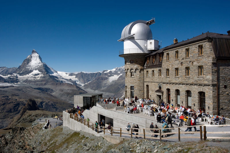 Gornergrat has a wonderful view of the Matterhorn.