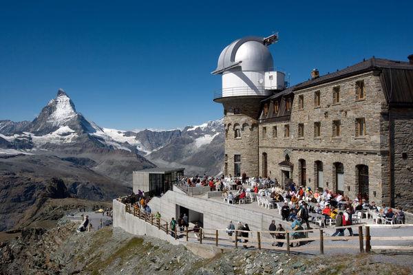 Der Gornergrat bietet einen wunderbaren Ausblick auf das Matterhorn