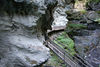 One of Zermatt's early tourist attractions: a wooden walkway has led through the Gorner gorge since 1887.