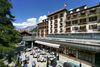 The Grand Hotel Zermatterhof dominates the heart of Zermatt.