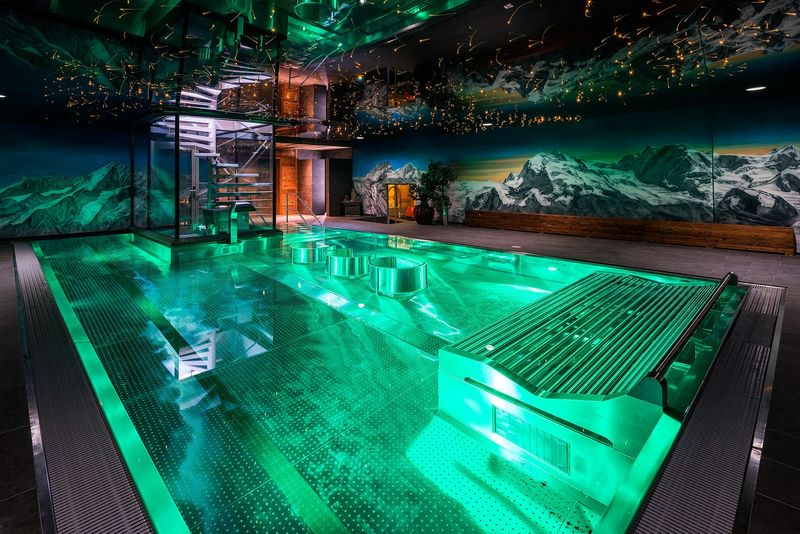Indoor Pool Amp Spa Silvana Mountain Hotel Furi Zermatt